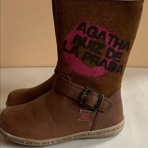 Agatha Ruiz de la Prada New  Girls Leather Boots